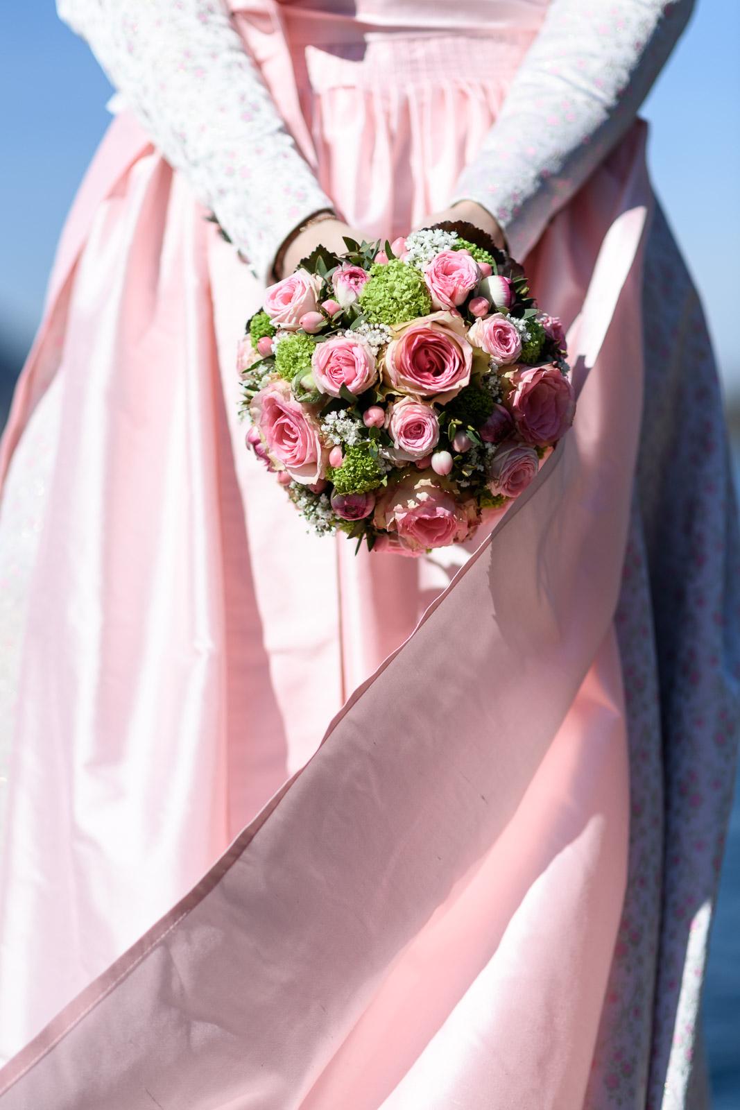 Hochzeit am Schliersee, Brautstrauß