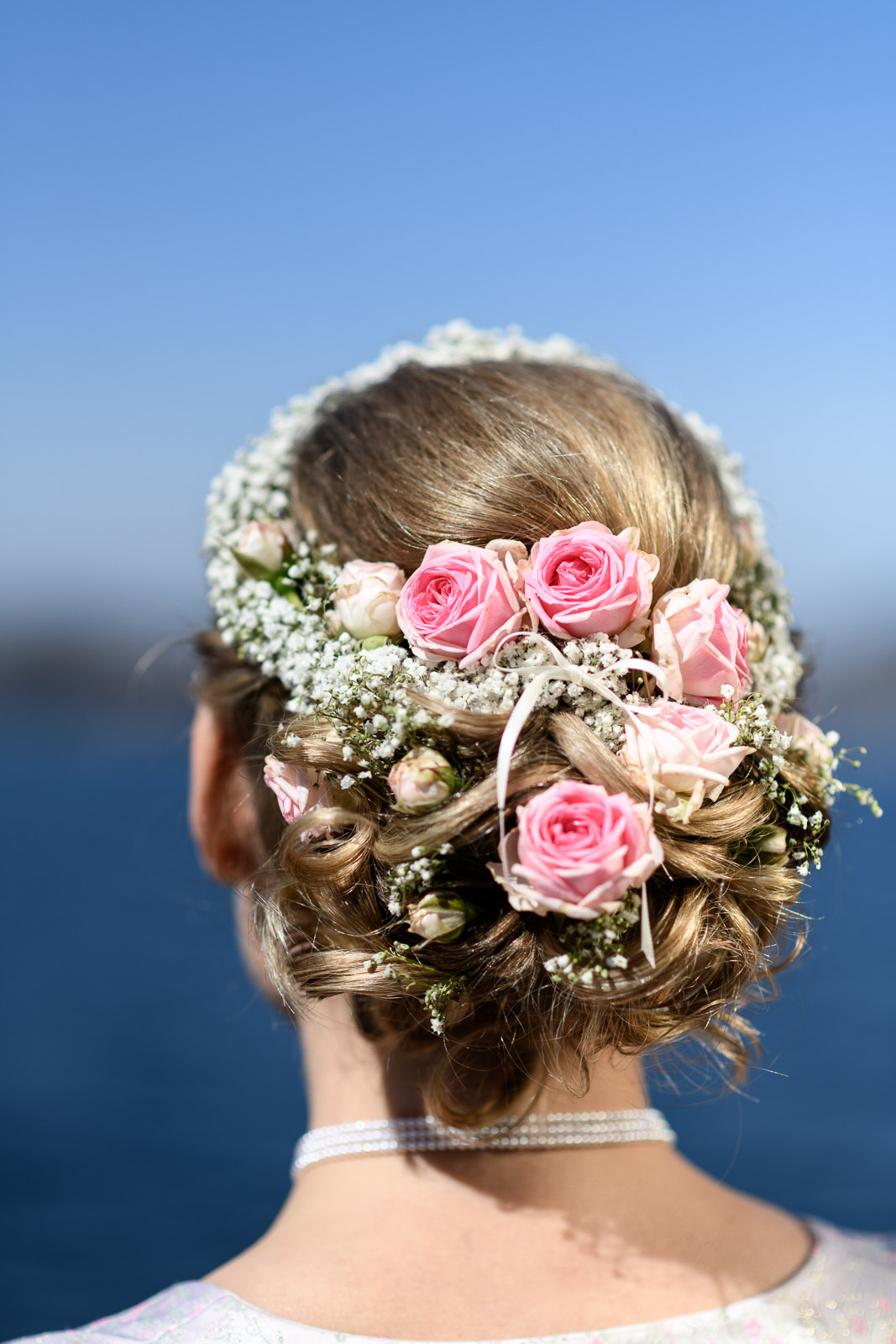 Hochzeit am Schliersee, Hochzeitsfrisur, Firsur, Braut