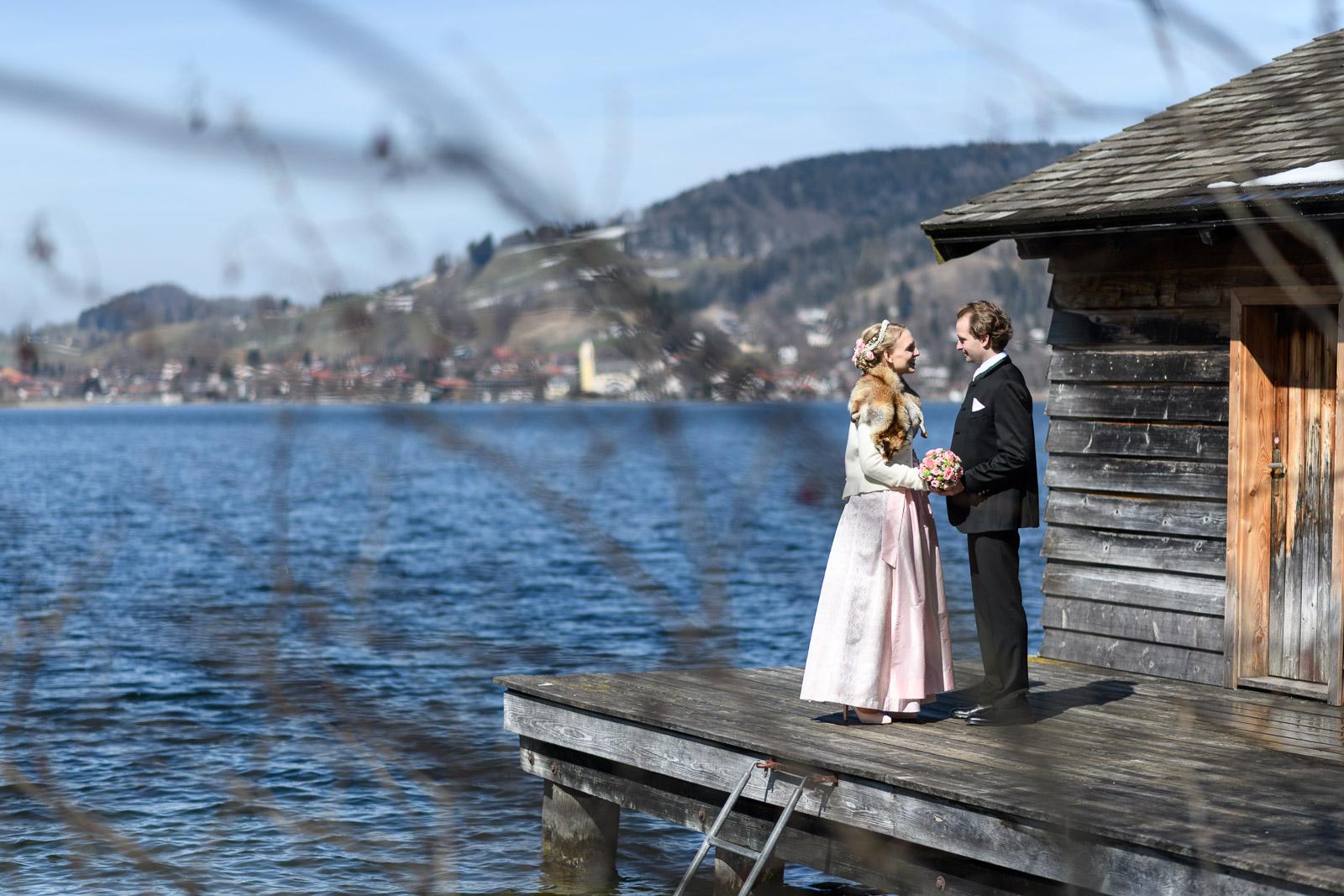 Hochzeit am Schliersee, Steg, Landschaft