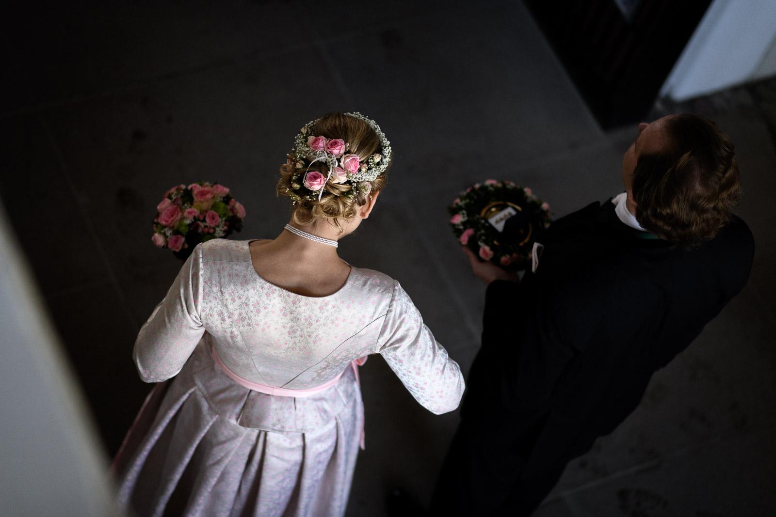 Hochzeit am Schliersee, Braut, Hochzeitsfrisur, Standesamt